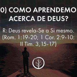 Pergunta 10: Como aprendemos acerca de Deus?