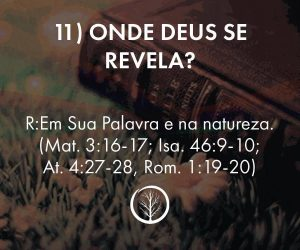 Pergunta 11: Onde Deus se Revela?