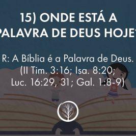 Pergunta 15: Onde está a Palavra de Deus hoje?