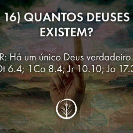 Pergunta 16: Quantos deuses existem?