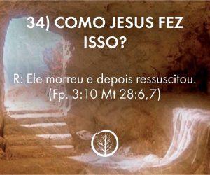 Pergunta 34: Como Jesus fez isso?
