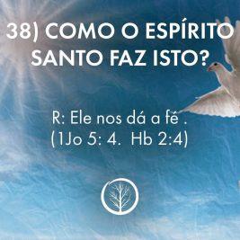 Pergunta 38: Como o Espírito Santo faz isto?