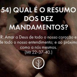 Pergunta 54: Qual é o resumo dos dez mandamentos?