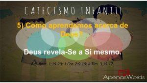 P5 - Como aprendemos acerca de Deus